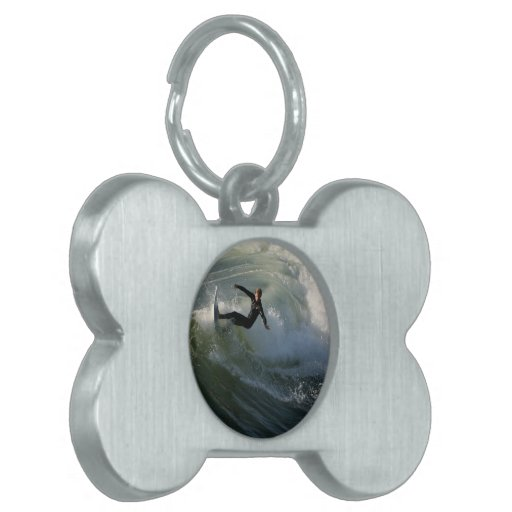 Surfer in a Wetsuit  Pet Tag