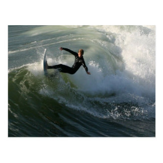 Surfer in a Wetsuit Postcard