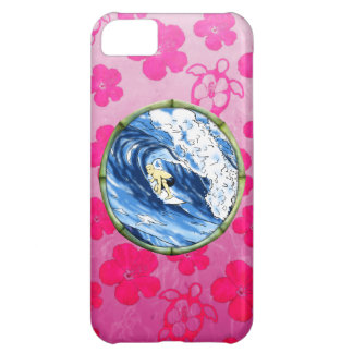 Surfer In Bamboo Circle iPhone 5C Case