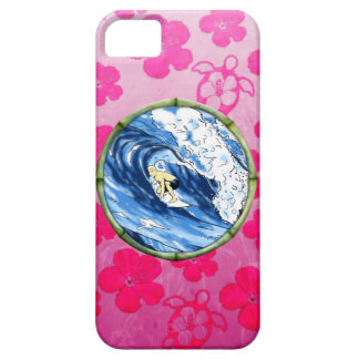 Surfer In Bamboo Circle iPhone 5 Cases