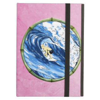 Surfer In Bamboo Circle Case For iPad Air