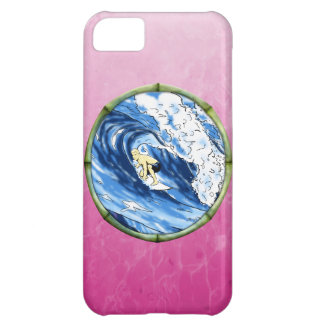 Surfer In Bamboo Circle Case For iPhone 5C