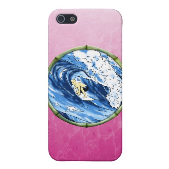 Surfer In Bamboo Circle iPhone SE/5/5s Case
