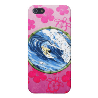 Surfer In Bamboo Circle iPhone SE/5/5s Cover