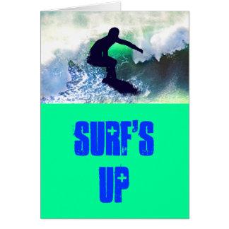 Surfer in Big Wave Card