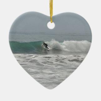 Surfer in Cambria, California Christmas Ornaments