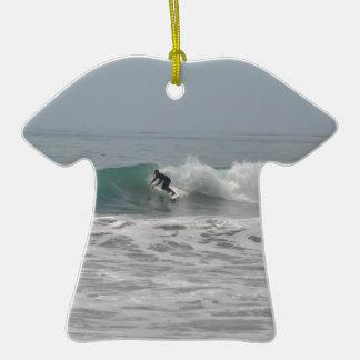 Surfer in Cambria, California Ornaments