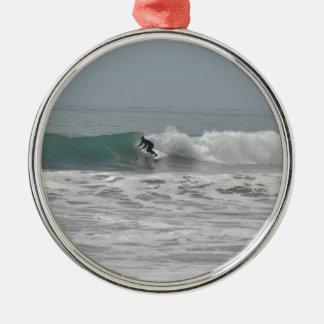 Surfer in Cambria, California Christmas Tree Ornament