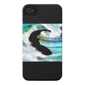 Surfer in Curling Wave iPhone 4 Case-Mate Case