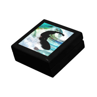 Surfer in Curling Wave Gift Box