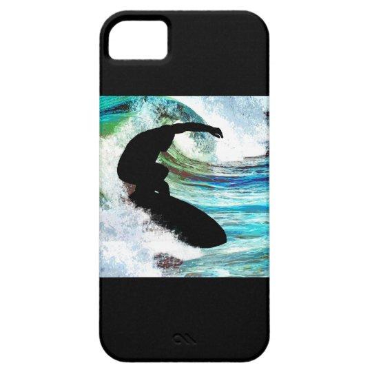 Surfer in Curling Wave iPhone SE/5/5s Case