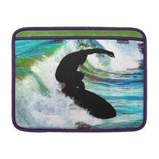 Surfer in Curling Wave MacBook Air Sleeve