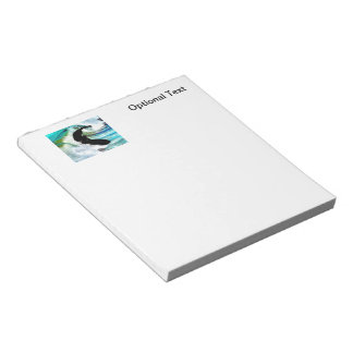 Surfer in Curling Wave Notepad