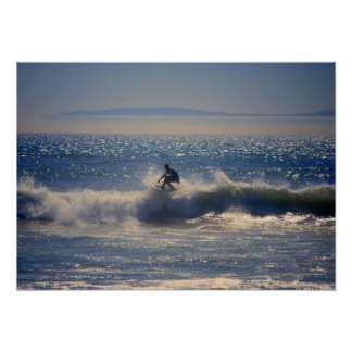 Surfer in Huntington Beach California Posters