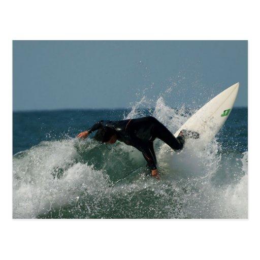 Surfer In Ocean Beach Postcards
