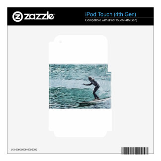 surfer iPod touch 4G decal
