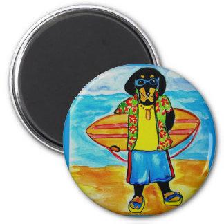 Surfer Joe 2 Inch Round Magnet