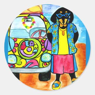 Surfer Joe's Van Classic Round Sticker