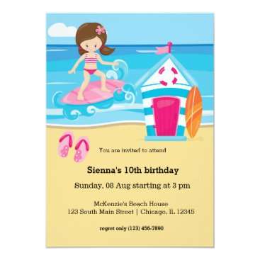 Beach Themed Surfer kids card