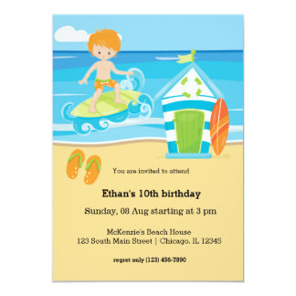 Surfer kids card