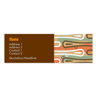 Surfer King Abstract Profile Card Mini Business Card