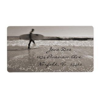 Surfer Personalized Shipping Labels
