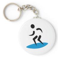 Surfer logo keychain