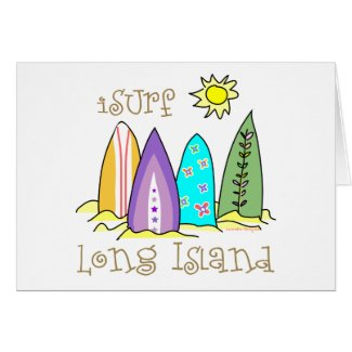 Surfer Long Island Gear card