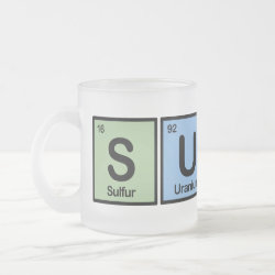 Frosted Glass Mug with Surfer design