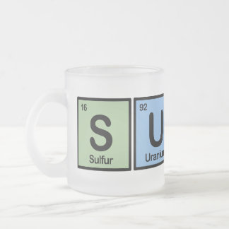 Surfer made of Elements Frosted Glass Coffee Mug