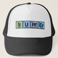 Trucker Hat with Surfer design