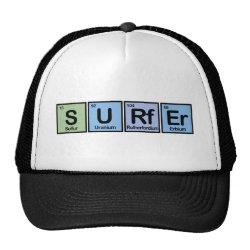 Trucker Hat with Surfer design