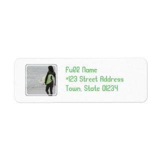 Surfer Mailing Label