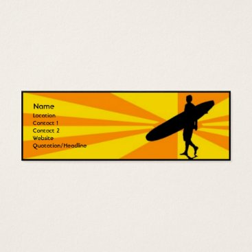 Professional Business Surfer Mini Business Card