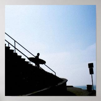 Surfer, Ocean Beach, CA Poster
