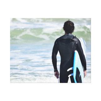 Surfer Ocean Canvas Print