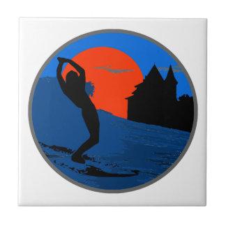 Surfer of Biarritz Ceramic Tile