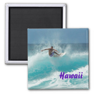 Surfer on a big wave text magnet