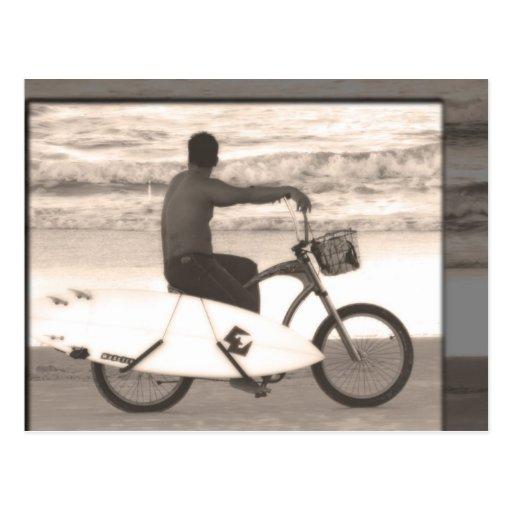 Surfer on Bike Postcards