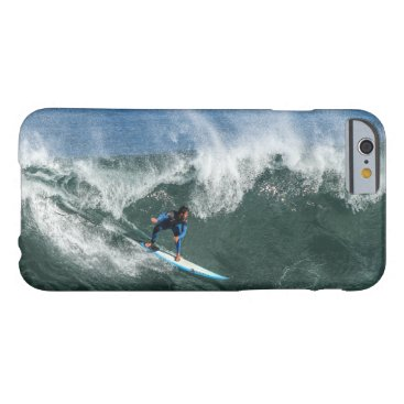 Surfer on Blue and White Surfboard Barely There iPhone 6 Case