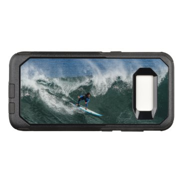 Beach Themed Surfer on Blue and White Surfboard OtterBox Commuter Samsung Galaxy S8 Case
