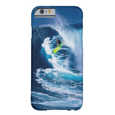 Beach Themed Surfer on Green Surfboard Barely There iPhone 6 Case