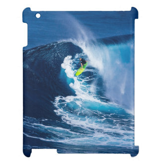 Surfer on Green Surfboard iPad Cases