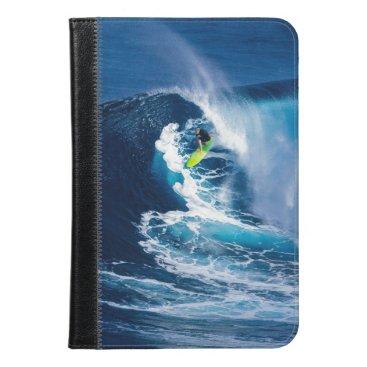 Beach Themed Surfer on Green Surfboard iPad Mini Case