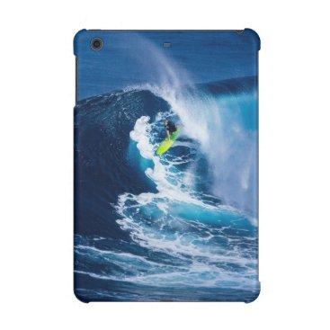 Surfer on Green Surfboard iPad Mini Cases
