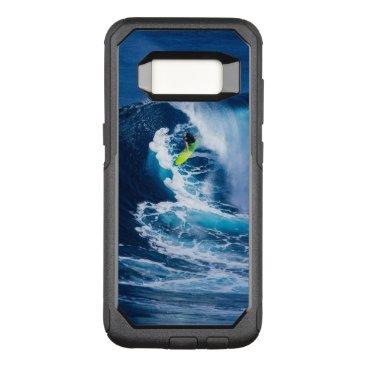 Beach Themed Surfer on Green Surfboard OtterBox Commuter Samsung Galaxy S8 Case