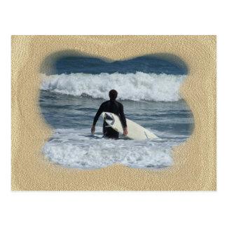 Surfer- One Last Wave Postcard