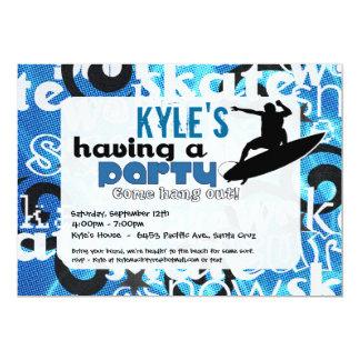 Surfer Party Invitation