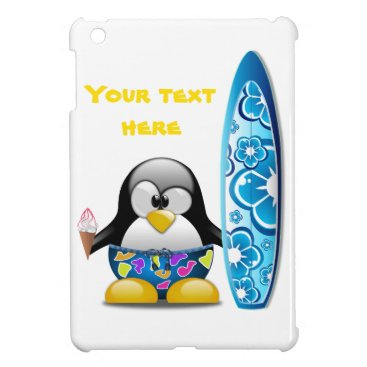 Beach Themed Surfer Penguin with Ice Cream Case For The iPad Mini