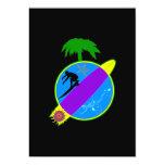 Surfer.png tropical invitación 12,7 x 17,8 cm